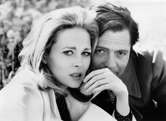 Faye Dunaway & Marcello Mastroianni I 1968